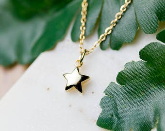 Dainty gold star necklace | Gold plated layering necklace | Gifts for her under 20 | Celestial jewelry | Minimalist necklace | Star jewelry|