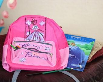Kids' Princess flower backpack for girls going back to school
