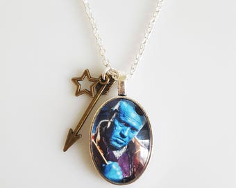 Yondu Guardians of the Galaxy Arrow Charm Marvel Superheroes Fandom Jewellery Comic Con Handmade Bronze Silver Cameo Charm Necklace