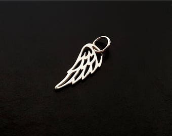 Stelring Silver Angel Wing Charm Pendant (CHARM ONLY) Add-On Wing