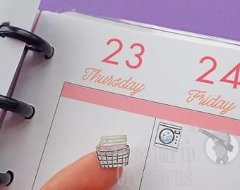 30 Washing Planner Stickers! watercolour/MATTE/stickers/SET