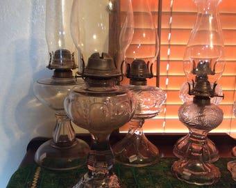 Oil Lamp, Antique, Dew Drop