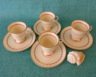 Mid-Century Franciscan China Del Monte Demitasse Cups and Saucers