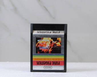 Vintage Fire Fighter, Atari 2600, Video Game, Atari, 1982, Rescue, Burning Building, Fireman, Fire Truck, Ladder, Fight Fire, Blaze, Burning