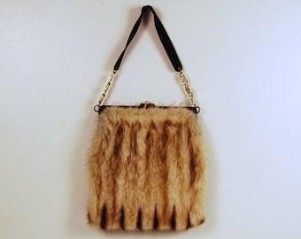 Large Vintage 1950's Ingber Mink Fur Gorgeous Handbag Signed Collectible
