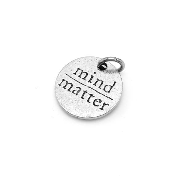 Mind Over Matter Charm - Add a Charm to Custom Charm Bracelets, Necklaces or Keychains -  Fitness Motivation for Goals - Inspirational Quote