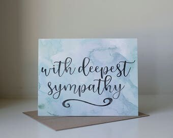 Sympathy Card, With Deepest Sympathy, Condolence Card, Sorry Card, Pet Sympathy Card, Thinking of You Card, Loss of Pet Card, Loss Card