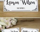 Wedding Place Cards Print...