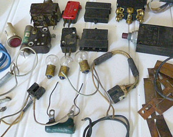 Assorted Electrical Parts  and Pieces Componets