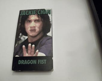 Jackie Chan Dragon Fist 1979  VHS Video Tape Box Cover Pre-Owned
