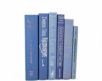 French Blue Decorative Books, sky Blue Book Set, Wedding Decor Centerpiece, Book Decor, Book Collection, Instant Library, Home Design