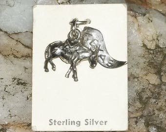 Vintage Sterling Charm, TEXAS, Donkey Ass Mule