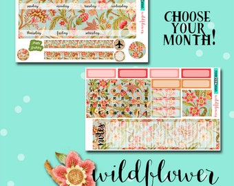 Planner Stickers | Monthly Planner Stickers | Botanical Planner Stickers | Wildflower Monthly Kit