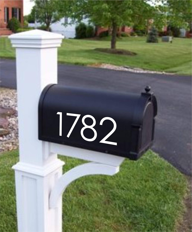 custom mailbox numbers modern mailbox decals mailbox. Black Bedroom Furniture Sets. Home Design Ideas