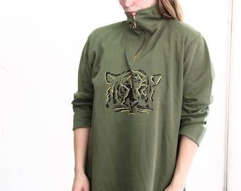 vintage sweater tiger