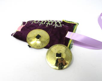 Set of Finger Cymbals and zill bag