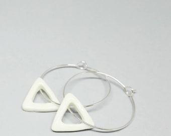 Porcelain squares earrings