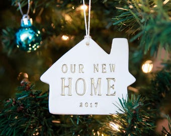 Christmas Ornament - Our New Home 2017 - Gift Boxed and Ready to Give