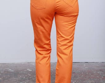 Rare Vintage 90's Moschino Orange Jeans