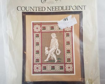 Large COUNTED Needlepoint Kit Victorian Man UNOPENED