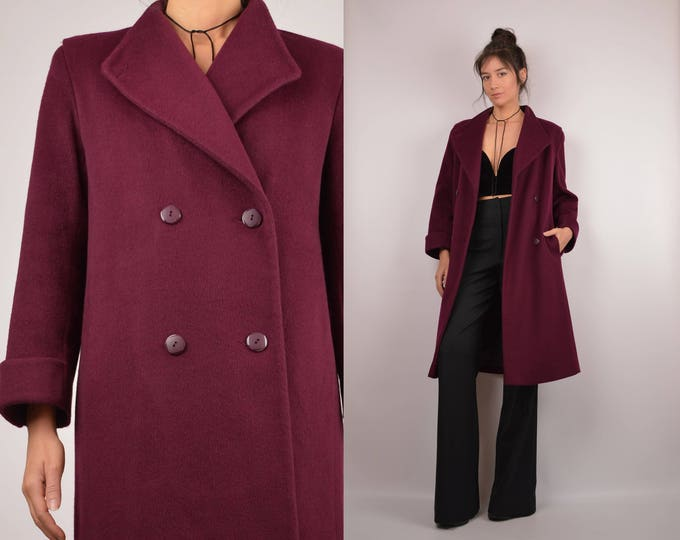Vintage Plum Wool Coat