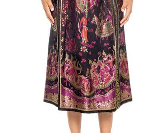 Asian Metallic Jacquard Skirt Size: 8
