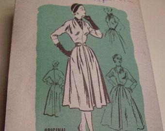 Vintage 1950's Prominent Designer Esther Reifer Dress Sewing Pattern, Size 16, Bust 34