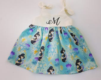 Jasmine dress, Aladdin Dress, Princess Jasmine Disney inspired outfit, baby dress, coming home outfit, birthday dress