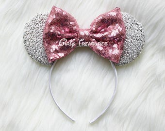 Pink Mouse Ears Headband. Princess Mouse Ears Headband. Girl Mouse Ears Headband. Women Disney Headband. One Size Fits Most.