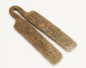 Tribal Copper Pendant from Ethiopia, African Handmade Pendant (AL176)