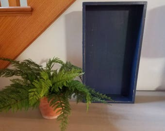 Vintage Clay Pot Home w/ faux fern Home Decor