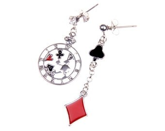 Earrings rabbit and carts alice
