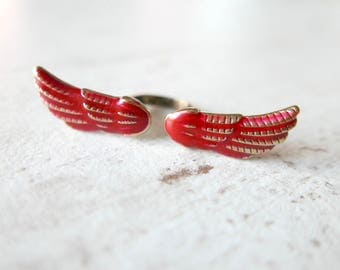 Ring Wings gothic vintage