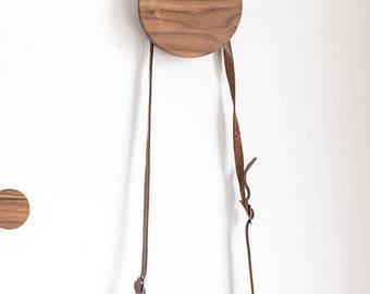 Wall knob - large wall hook - walnut hook - coat hook - decorative hook - rustic hook - coat hanger - hat hook - clothes hook - knob hook