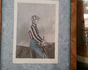 1850 Harry Hall Print of Jockey Nathan Flatman
