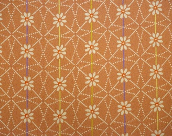 Kiku Vintage Japanese chirimen silk kimono fabric