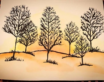 Sunset - Greeting Card