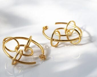 Mika 24k gold plated hoops