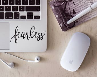 Fearless Vinyl Decal/Laptop Decal/Tumbler Decal/Car Decal/Laptop Sticker/Cup Decal/Car Sticker/Quote Decal