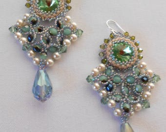Picasso Bead and Pearls earrings