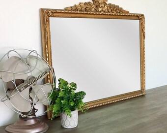 Antique Gold Mirror - Mirror Wall Decor - Ornate Mirror - Vintage Home Decor - French Mirror - Vintage Room Decor - Gold Framed Mirror