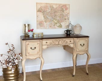 shabby chic desk french provincial vintage vanity desk writing table vintage writing