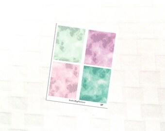 Spring Fling Watercolor Header Planner Stickers, Vinyl Stickers