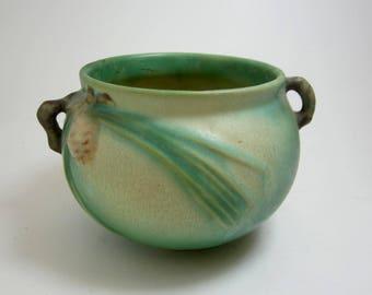 Roseville Pinecone 1931  low bowl vase art pottery