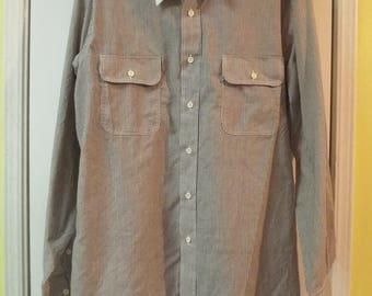 Men's Hipster Vintage Oleg Cassini Dress Shirt