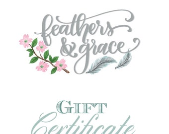 Gift Certficate/Gift Card/Jewelry/Necklace/Bracelet/gifts/stocking stuffer/birthday/handmade/shopping spree/mothers day