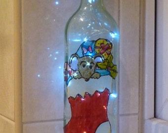 Christmas stocking bottle light SALE