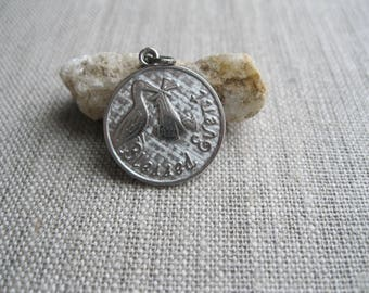 Blessed Event New Baby Sterling Silver Stork Coin Charm, New Baby Charm, New Mom Gift, Stork Charm, Coin Charm, Baby Shower, Charm Add On