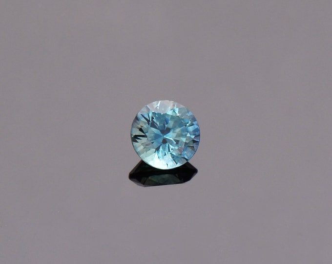 SALE EVENT! Bright Blue Green Sapphire Gemstone from Montana, Round, 0.74 cts., 5.2 mm.