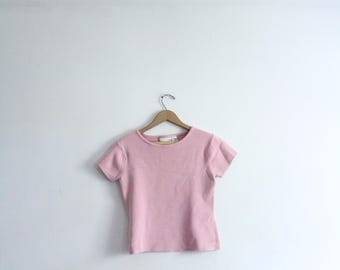 Pastel Pink 90s Knit Top